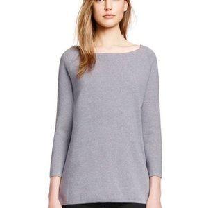 Tory Burch Side-zip Wool Tunic Gray Sweater